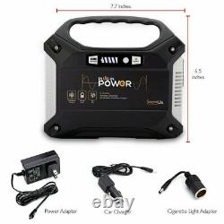 SereneLife Portable Generator, 155Wh Power Station, Quiet Gas Free Power