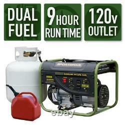 Sportsman 2,000-W 3.5 HP Portable Hybrid Dual Fuel Gas Powered Generator Home RV