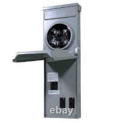 Temporary Power Box 100 Amp Ringless Metered GFCI Top Feed Surface Mounted