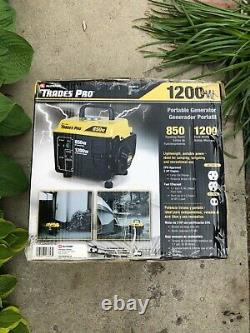 Trades Pro 1200-w 2 Stroke Portable Gas Powered Generator Home Backup Rv Camping