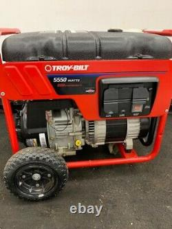 Troy Bilt 5550 Watt Portable Gas Portable Generator Backup Power Home Standby