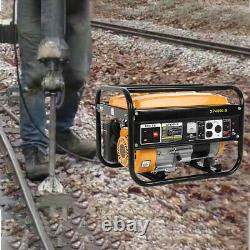 USA 4000W Portable Home Emergency Gas Powered Generator Engine 120V Recoil Start