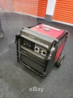 USED Honda Generator EU6500IS EU6500 W Portable Quiet Inverter Gas Power RV