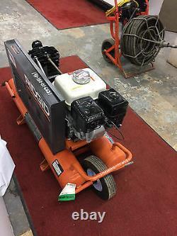 Used RIDGID 9 Gallon Portable Gas Powered Air Compressor Wheelbarrow Commercial