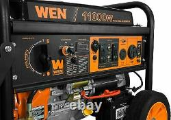 WEN 11,000-W Portable RV Ready Dual Fuel Powered Generator with Electric Start