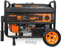 WEN 4,750-W Portable Gasoline Fuel Gas Powered Generator with Electric Start NEW
