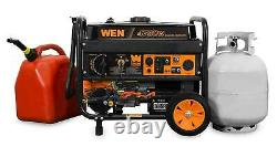 WEN 4,750-W Portable Hybrid Dual Fuel Gas Powered Generator with Electric Start