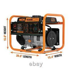 WEN Portable Generator 4-Stroke 98cc 1550-Watt Compact Gas-Powered Lightweight