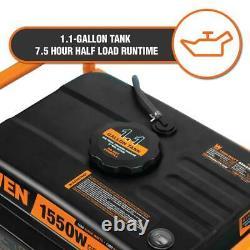 WEN Portable Generator 98 cc 1550-Watt 4-Stroke Gas-Powered Fuel Gauge