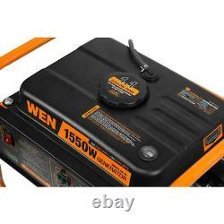 Wen Generator Gas Powered Portable Compact 4 Stroke 98 cc 1550 Watt 1.1 Gal Tank
