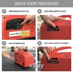 1250 Watts Essence Portable Onduleur Générateur Epa Carb Gaz 4-avc Powered