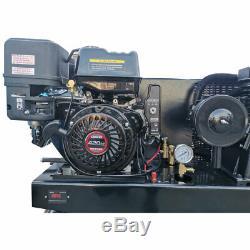 13hp Gas-powered Compresseur D'air Portatif 420cc Moteur 30gal Réservoir 180psi 24cfm