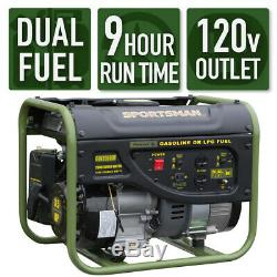 2000w Double Carburant Portatif Génératrice À Essence / Propane Alimentation Activités De Plein Air Camping