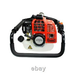 52cc Gas Powered Pile Driver T Post Pole Fence Portable 2 Stroke Fencing Hammer