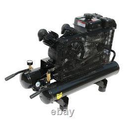 6,5 HP Portable Au Gaz 9 Gal. Compresseur D'air Twin Stack 125psi Horizontal