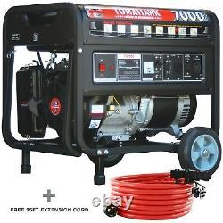 7000 Watt Générateur Gaz Power Portable Accueil Utiliser Résidentiel 120/220 Sortie Roue