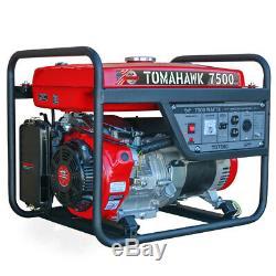 7500 Watt Générateur De Gaz D'alimentation Accueil Portable Usage Résidentiel 120/220 Outlet Roue