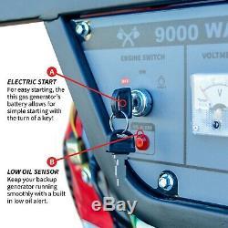 9000 Watt Générateur Démarreur Électrique Au Gaz D'alimentation Portable Accueil Utilisation Roulantes