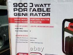9000 Watt Max Electric Gas Combustible Portable Powered Generator Similaire Honda Em6500s