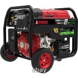 A-ipower 12000-w Portable Dual Fuel Gas Powered Générateur Avec Démarrage Électrique