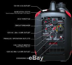 A-ipower 2000 Watt Carb / Epa Powered Portable Inverter Generator Super Silencieux Gaz