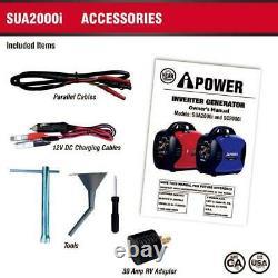 A-ipower 2000 Watts Générateur D'onduleur Portatif Alimenté À L'essence Sua2000i