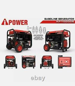 A-ipower Ap10000e 14hp 10,000-w Générateur Alimenté Au Gaz Portable Avec Démarrage Électrique
