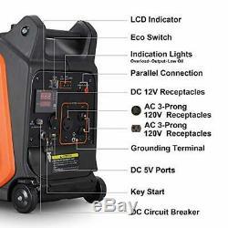 Arksen 2800 W-gaz Portable Powered Inverter Générateur Avec Démarrage Électrique À Distance