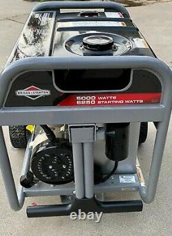 Briggs Et Stratton 5000-watt 389cc Générateur Portatif Alimenté Au Gaz
