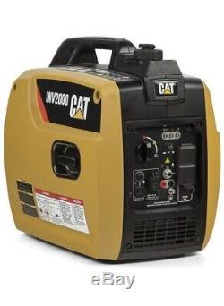 Cat Inv2000 1800 Watts Ohv Pull De Camping Portable Démarrer Gaz Générateur Powered
