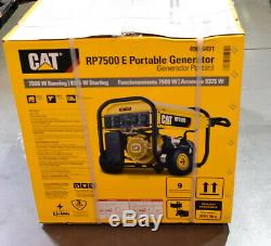 Cat Rp7500e Gaz Portable Alimenté Générateur 7500 Watts Exécution 490-6491