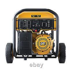 Caterpillar 490-6489 5500 Watts Générateur Portable À Usages Multiples Alimenté Au Gaz, Jaune