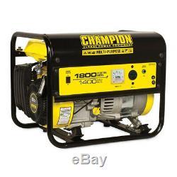 Champion 1400 Watt Recoil 42432 Démarrer Gas Powered Rv & Génératrice Portable