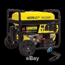 Champion 4375-w Quiet Rv Portable Ready Gas Powered Générateur Avec Démarrage À Distance
