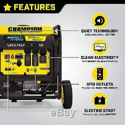 Champion 8750-w Gaz Portable Silencieux Powered Inverter Generator Avec Démarrage Électrique