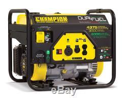 Champion Power 3500with4375w Double Générateur De Carburant Au Gaz Propane Ou Générateur Portable