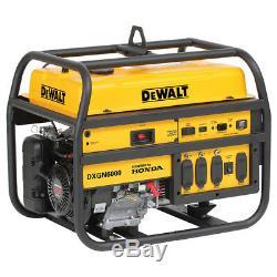 Dewalt Dxgn6000 6000 Watt Générateur Électrique Gaz Portable Commercial Recoil Démarrer