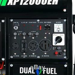 Duromax 12000-w Gaz Hybride Double Carburant Portable Alimenté Générateur Démarreur Électrique