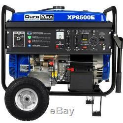 Duromax 8500 Portable Gas Powered Démarreur Électrique Rv Camping Générateur Xp8500e