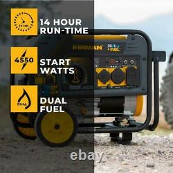Firman 4,550-watt Quiet Portable Rv Ready Hybrid Dual Fuel Gas Powered Generator