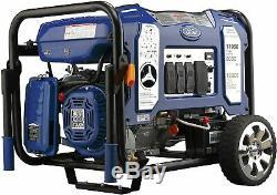Ford 11050-w 120 / 240v Portable Hybride Double Générateur De Gaz Combustible Avec Démarrage Électrique