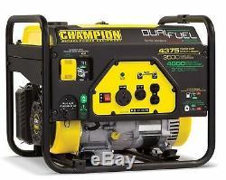 Gaz Propane Générateur D'énergie Portable Double Champion Carburant 3500w / 4375w