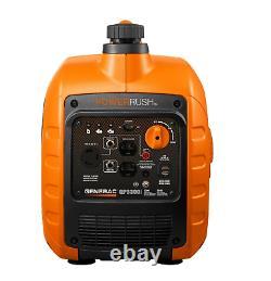 Generac 3300 Watt Générateur D'inverseur Lumière Portable Super Silencieux Gaz Alimenté Nouveau