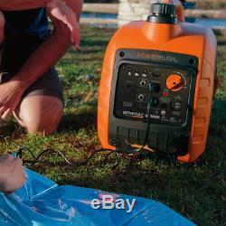 Generac Gp3000i 3000 Watts Gas Powered Recoil De Démarrage Onduleur Générateur 7129