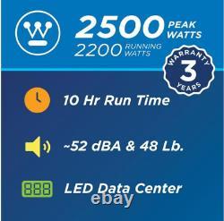 Générateur D'onduleur Alimenté Au Gaz Silencieux Avec Écran Led Igen2500 2 500/2 200 Watts