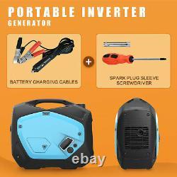 Générateur D'onduleur Portatif 2100w Peak Gas-powered Super Quiet 120v Blue Black