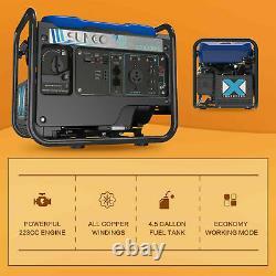 Générateur D'onduleur Portatif 3850w Peak 120v Alimenté Au Gaz Super Quiet Blue/black