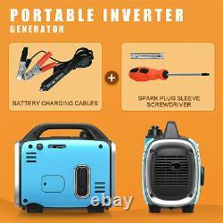 Générateur D'onduleur Portatif Silencieux 800w Peak 120v Gas-powered Ultralight Blue