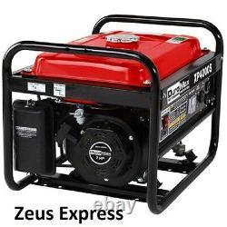 Générateur Portable 4000 Watt Duromax 7 HP Gas Powered Home Rv Camping Tools