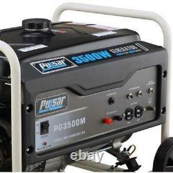 Générateur Portable Alimenté Au Gaz De Pulsar 3500 Watts Avec Kit De Mobilité Pg3500mr